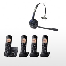 Panasonic KXTG 224EB Quad Pack & Long Range Wireless Headset