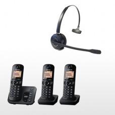 Panasonic Triple Pack  & Long Range   Wireless Headset