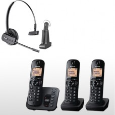 Panasonic Triple Pack  & Long Range Plantronics  Wireless Headset