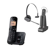 Panasonic Cordless + Long Range  Plantronics  Wireless Headset