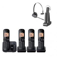 Panasonic KXTG 224EB &Plantronics GAP Wireless Headset