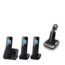 Panasonic Triple Pack 223 Cordless + Answering machine + BT Wireless Headset